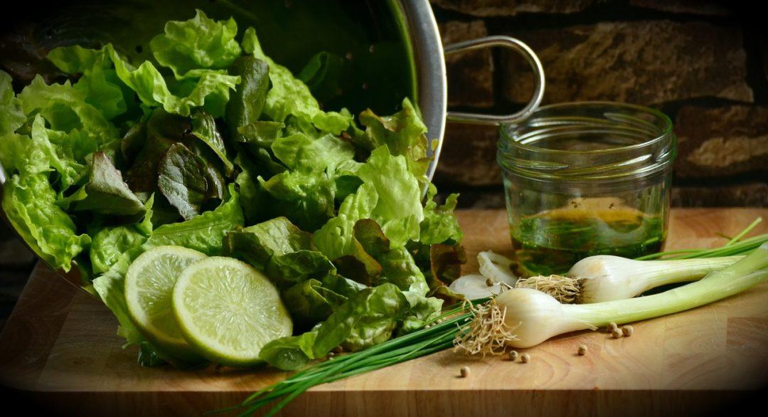 Groene salade gezond