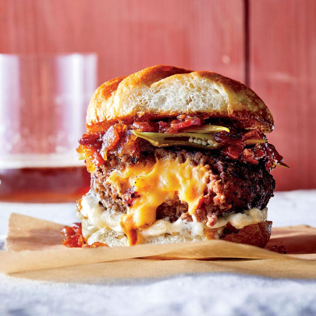 Gevulde cheese burger - juicy Lucy